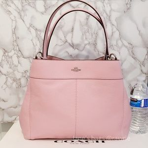 New Coach Lexy Pebbled Leather Shoulder Bag